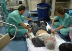 Sanita' shock: in un ospedale di Roma pazienti malati curati per terra