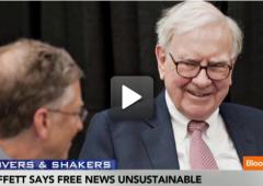 """Buffett: informazione su Web insostenibile, """"comprero' giornali"""""""