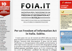 Nasce anche in Italia il FOIA Freedom of Information Act