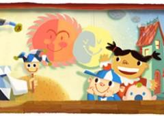 Doodle per la Giornata mondiale dell'infanzia