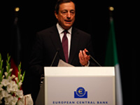 Draghi: ripresa in secondo semestre 2013