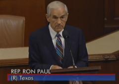 L'addio del libertario Ron Paul al Congresso Usa