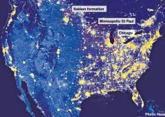 Boom del gas di scisto è tale che si può osservare da spazio