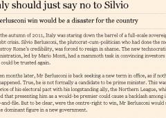 """Ft: """"L'Italia dovrebbe dire no a Silvio"""""""