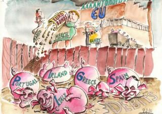 PIIGS, i paesi dell'Europa del Sud con alto debito ed economie in difficoltà