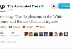 Bombe alla Casa Bianca: falso tweet fa tremare Wall Street
