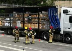 Camion radioattivo alla frontiera svizzera