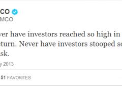 """Gross: """"mai mercati tanto alti in cambio di ritorni così bassi"""""""