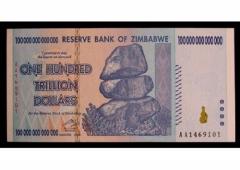 Banconota da 100 trilioni in vendita su Amazon