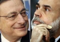 """Draghi: """"rischiato collasso totale credito, ora meno tasse"""""""