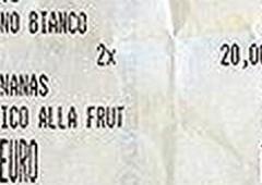 Sardegna: paga 80 euro per 4 succhi di frutta