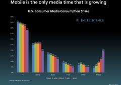 Media: dispositivi portatili sono l'unico mezzo in crescita