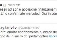 Governo pressato da M5S e Renzi abolisce finanziamento pubblico ai partiti