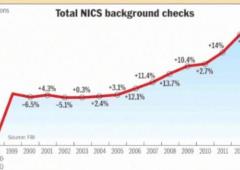 Stati Uniti: logica del Far West, record di armi vendute nel 2013