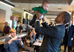 A colazione con il Presidente Obama