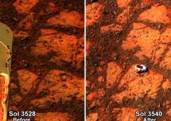 Marte: mistero, roccia sbuca dal nulla
