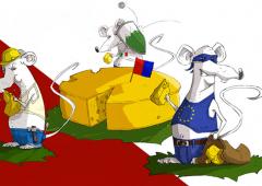 Svizzera al voto contro l'immigrazione: italiani raffigurati di nuovo come ratti