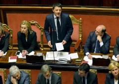 """Renzi in Senato: """"Scelte radicali. Sblocco totale debiti Pa. Taglio 10% cuneo fiscale"""""""