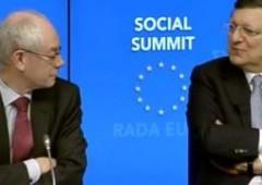 Barroso-Van Rompuy, risatine su Renzi