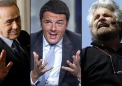 Sondaggio fiducia: Renzi al 51%, in peggioramento Grillo e Berlusconi