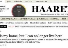 "Israele, giornalista Haaretz: ""qui mi sento soffocato, me ne vado"""
