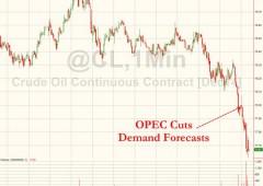 Opec taglia stime, nuovo tonfo del petrolio. Guerra dei prezzi, verso $70?