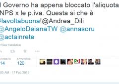 Renzi: bloccata aliquota Inps per Partite Iva. #lavoltabuona