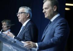 Brexit, Tusk e Juncker: lo spazio di trattativa è nullo