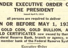 E se l'oro fosse dichiarato illegale?