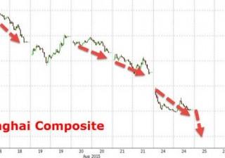 Shanghai, nuovo crollo: -21% in quattro giorni. Cali record dal 1996