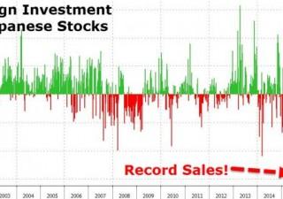 Il grafico che spaventa: fuga dal Giappone, vendite record da investitori stranieri