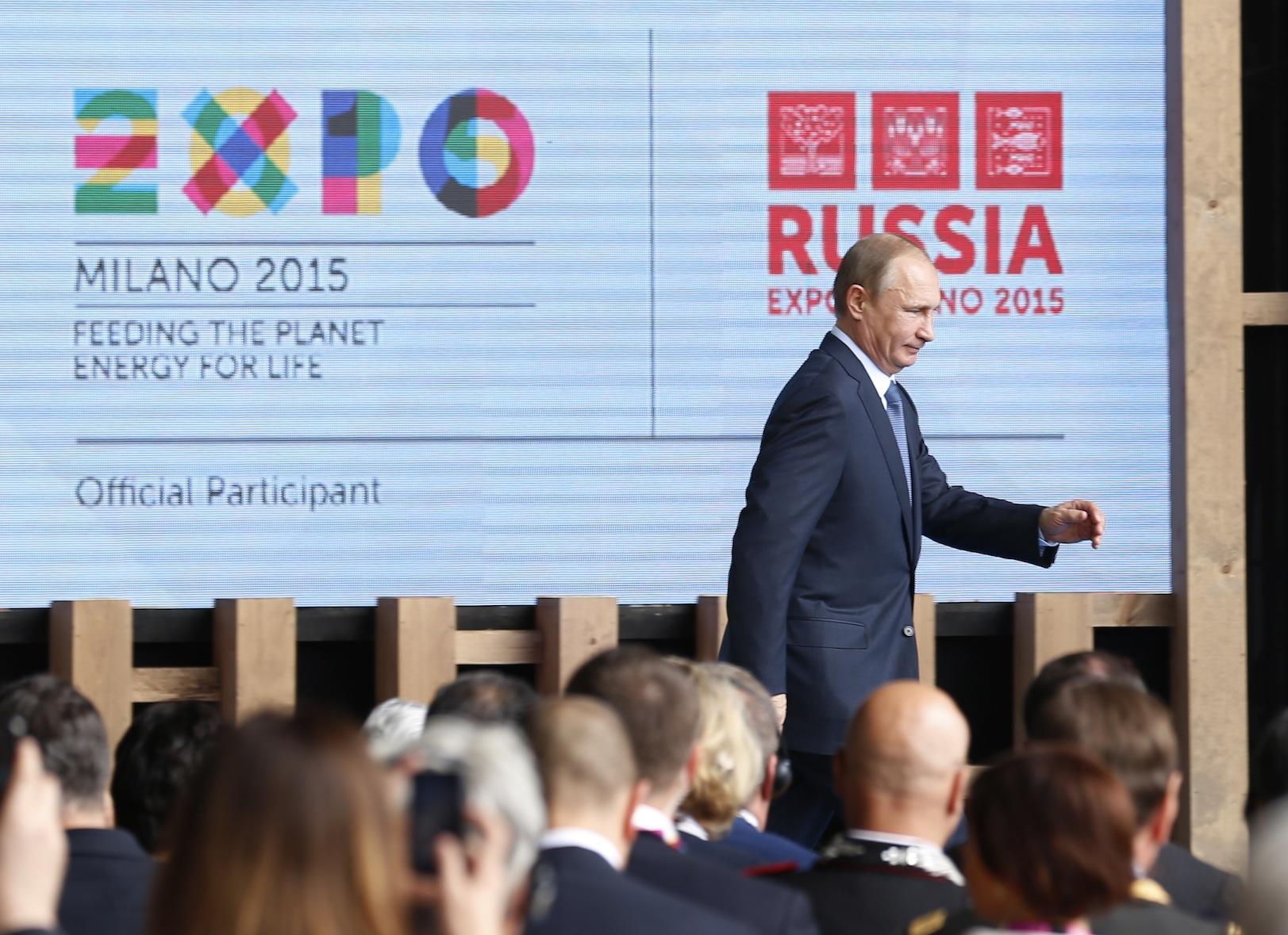 Putin all'Expo 2015