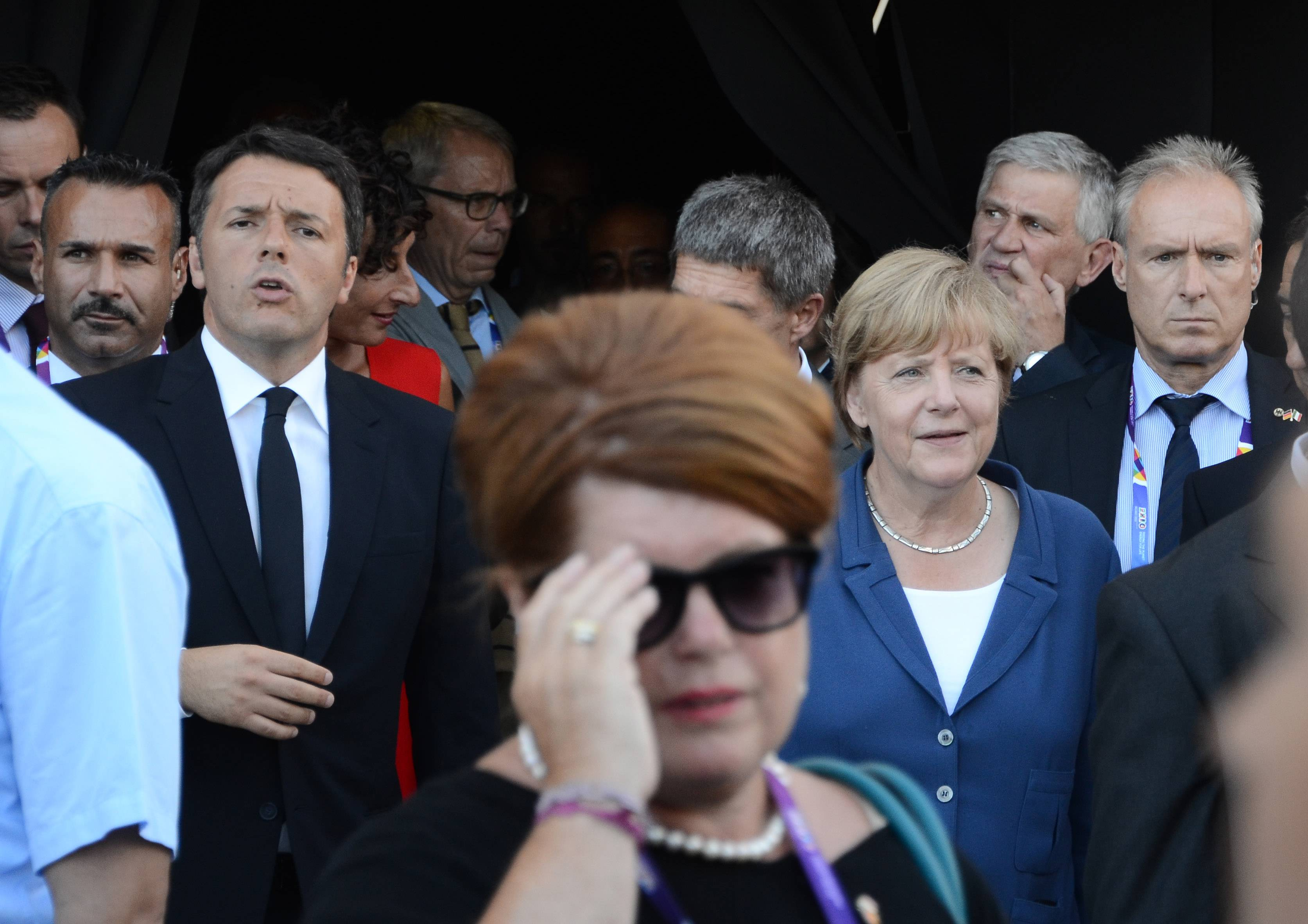 Renzi e Merkel all'Expo 2015