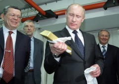 Russia, riserve auree ai massimi dell'era Putin