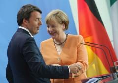Merkel: voltafaccia sui migranti. Scontro con Renzi su Eurobond