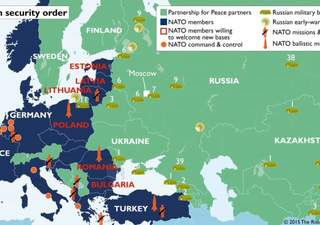 Usa, Canada ed Europa hanno accerchiato la Russia