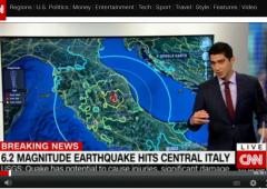 Terremoto Italia, su Twitter polemiche per frase CNN