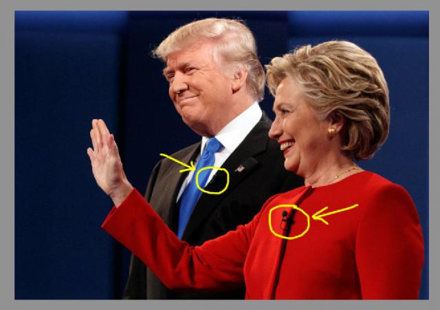Clinton ha barato? Si trattava molto probabilmente solo di un semplice microfono