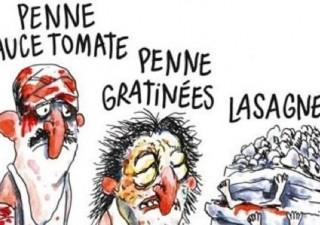Bufera su Charlie Hebdo: nella vignetta vittime sisma come lasagne