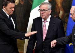 """Juncker: attacchi Renzi? """"Me ne frego"""". Dubbi spese sisma e migranti"""