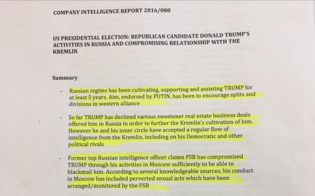 Dossier in mano alla Russia che rende ricattabile Trump