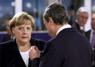Draghi da Merkel che dovrà giustificare surplus commerciale record