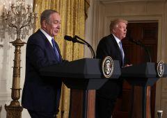 """Trump-Netanyahu: """"Uno o due Stati? Indifferente, facciano loro"""""""