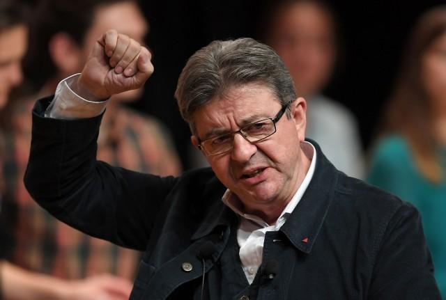 Il candidato di sinistra alle elezioni presidenziali in Francia Jean-Luc Melenchon