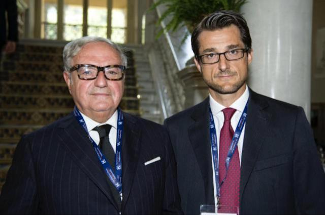 Stefano Simontacchi con il pres. IEA Achille Colombo Clerici