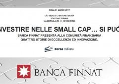 """Banca Finnat presenta: """"Investire nelle small cap… Si può!"""""""