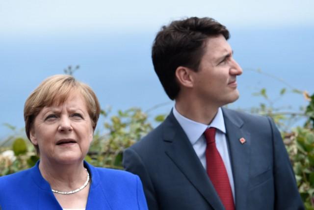 Angela Merkel e Justin Trudeau