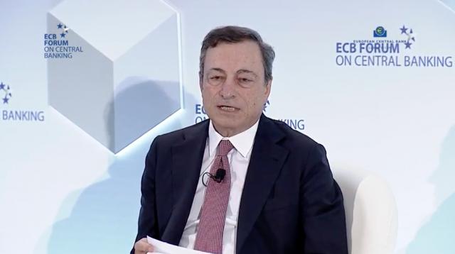 Draghi e Carney in diretta al forum di Sintra