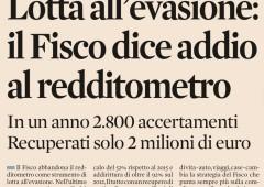 """Fisco: il fallimento del """"redditometro"""""""