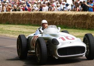 Mercedes Benz W196. Alla guida, Stirling Moss